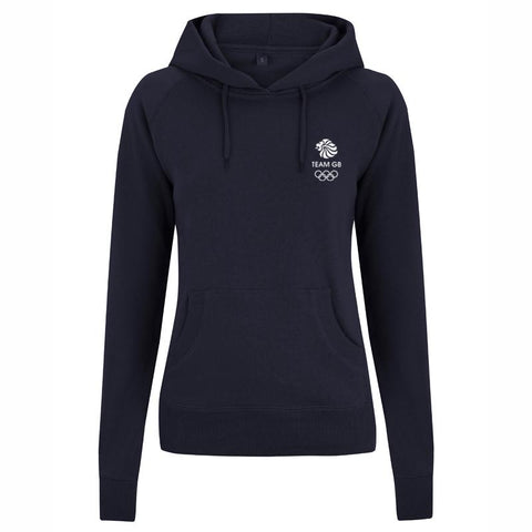 Team GB Olympic Small White Logo Hoodie Women's