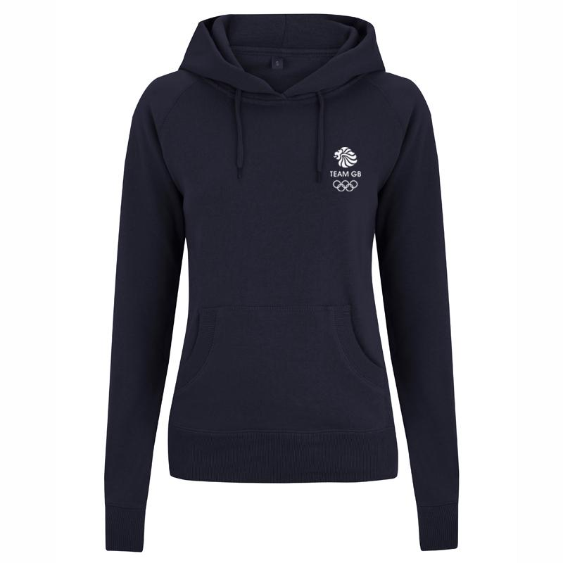 Team GB Olympic Small White Logo Hoodie Women's | Team GB Official Store