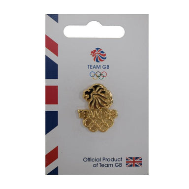 Team GB Lions Head and Olympic Rings Pin | Team GB Official Store