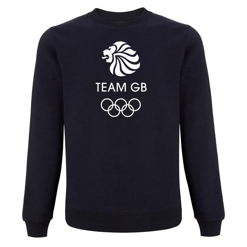 Team GB Olympic White Logo Sweatshirt Men's