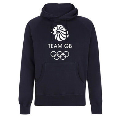 Team GB Olympic White Logo Hoodie Men's-Team GB Shop