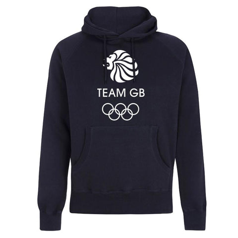 Team GB Olympic White Logo Hoodie Men's