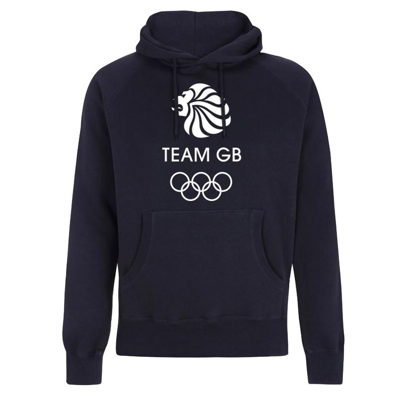 Team GB Olympic White Logo Hoodie Men's | Team GB Official Store