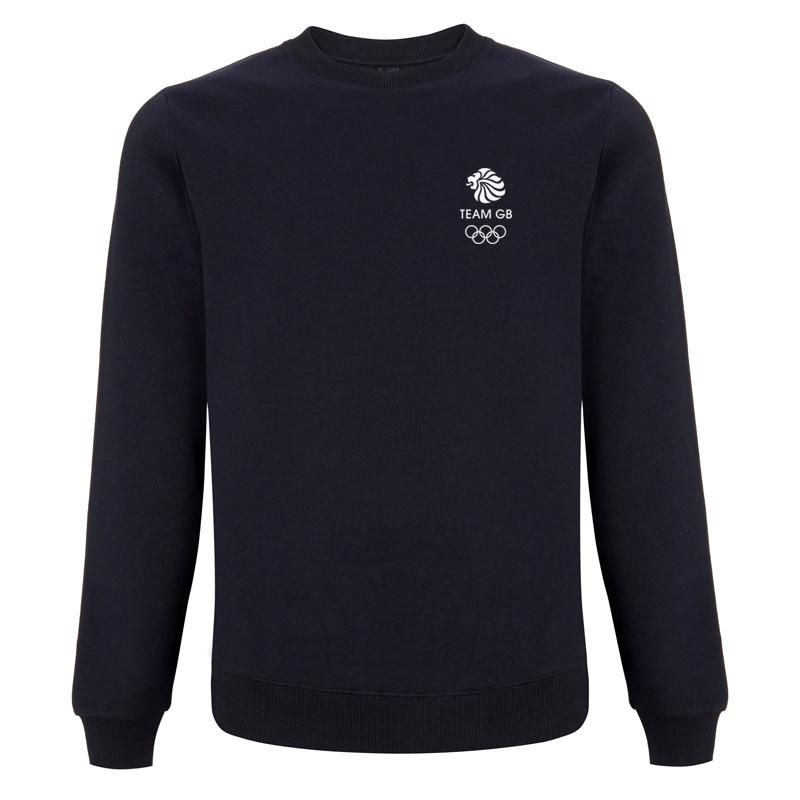 Team GB Olympic Small White Logo Sweatshirt Men's