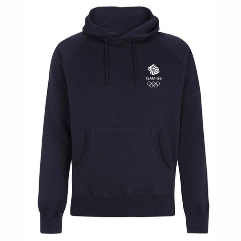 Team GB Olympic Small White Logo Hoodie Men's