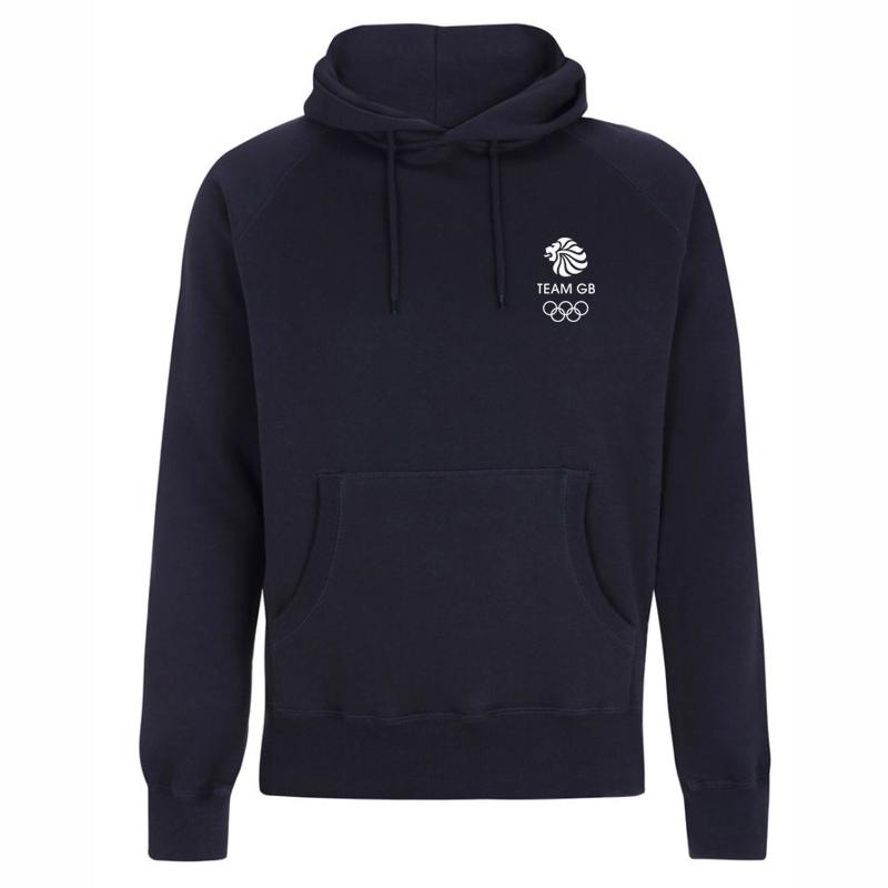Team GB Olympic Small White Logo Hoodie Men's-Team GB Shop
