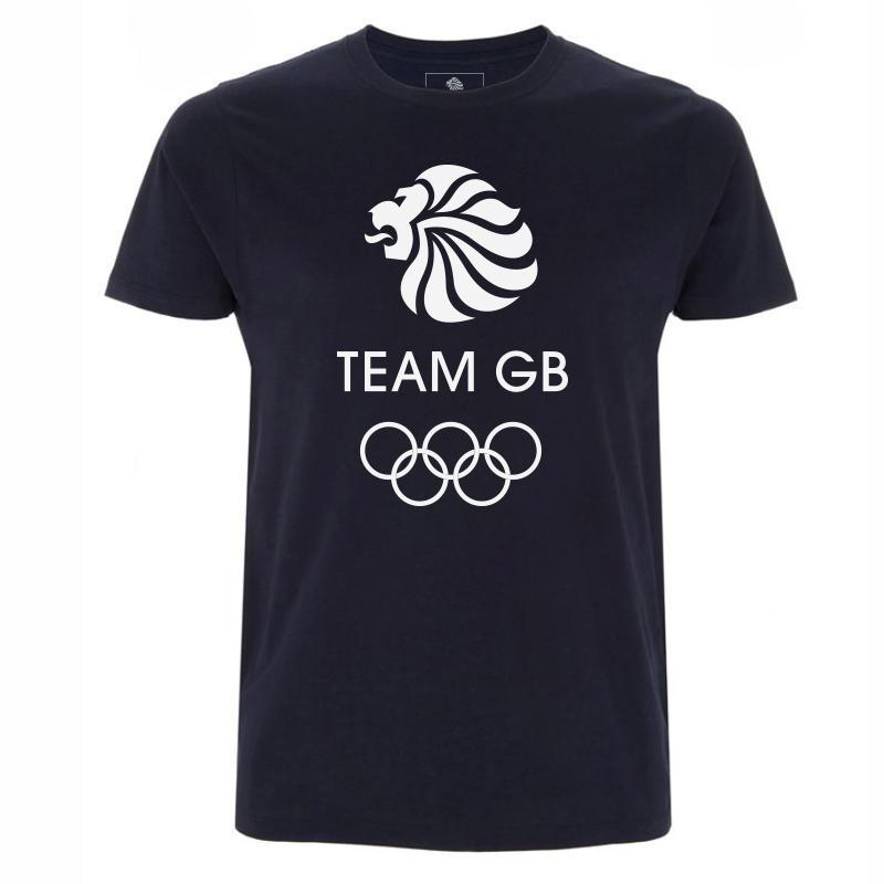 Team GB Olympic White Logo T-Shirt Men's | Team GB Official Store
