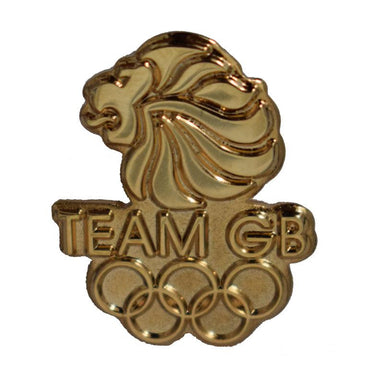 Team GB Lions Head and Olympic Rings Pin-Team GB Shop