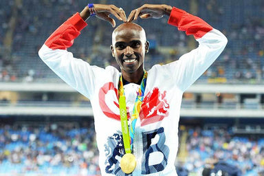 """Rio 2016 Sir Mo Farah Pose"" Art Print 