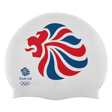 Team GB Lion Silicone Swim Cap-Team GB Shop