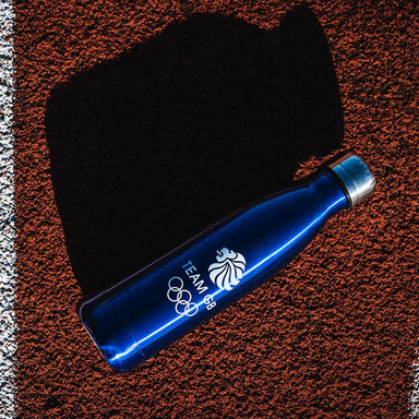 Team GB Olympic Logo Stainless Steel Blue Flask | Team GB Official Store