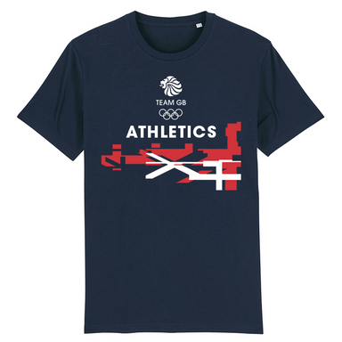 Team GB Athletics Flag T-Shirt | Team GB Official Store