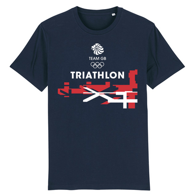 Team GB Triathlon Flag T-Shirt | Team GB Official Store