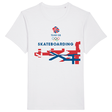 Team GB Skateboarding Flag T-Shirt | Team GB Official Store