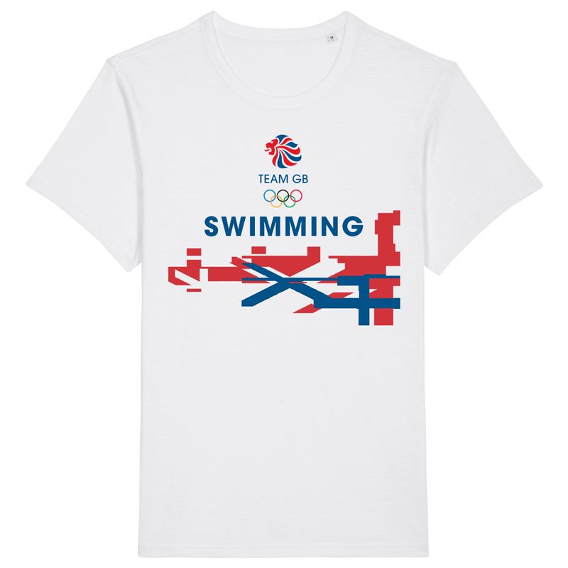 Team GB Swimming Flag T-Shirt | Team GB Official Store