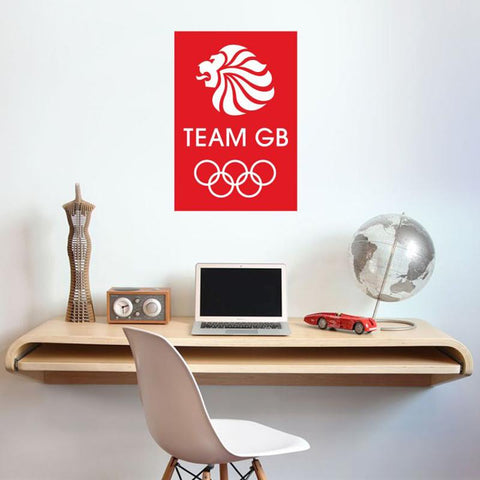 Team GB Red and White Logo Wall Sticker