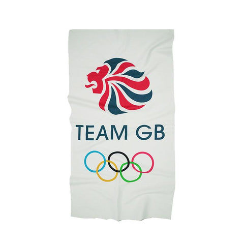 Team GB Small Microfibre Towel - White