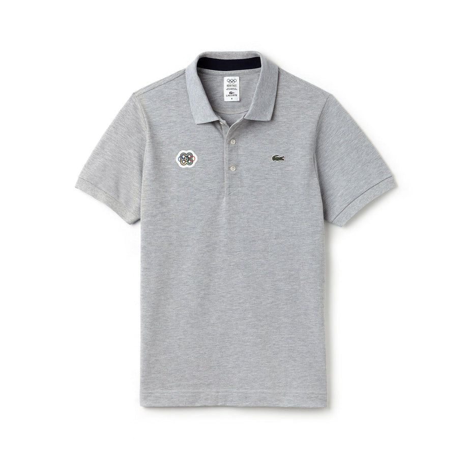 4f74e87a Lacoste Olympic Heritage Polo Grey | Official Team GB Shop