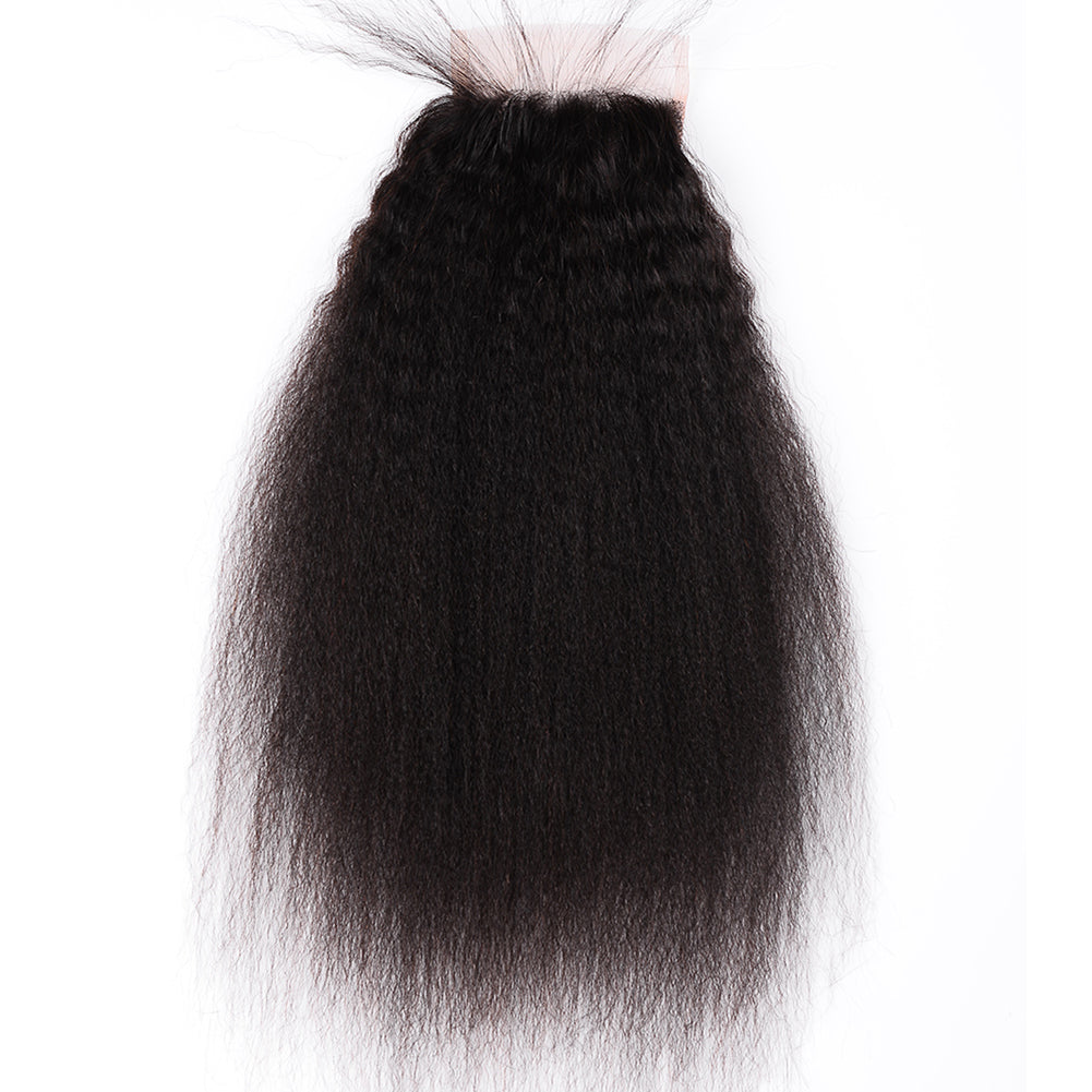 Raw Hair Company Kinky Straight 4x4 Closure