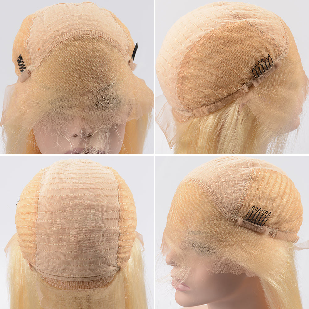 Raw Hair Company Straight 13x4 Blonde Lace Front Wig