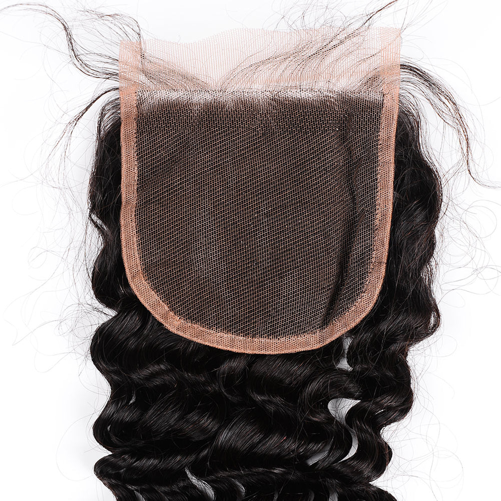 Raw Hair Company Deep Wave 4x4 Closure