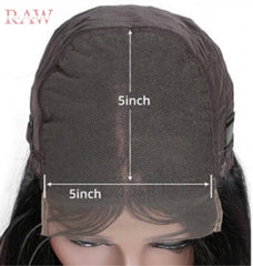 Raw Hair Company Straight Lace 5x5 Closure Wig