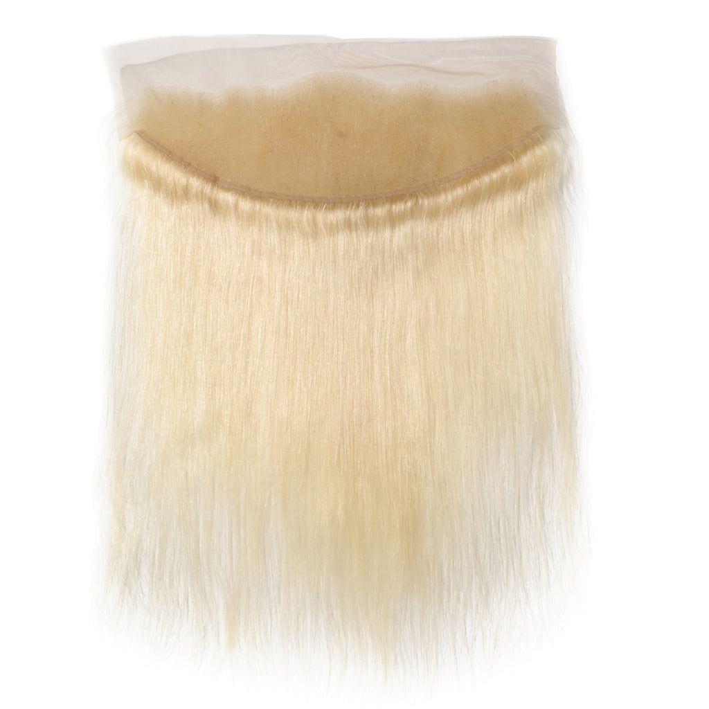Raw Hair Company Straight 13X4 Blonde Lace Frontal