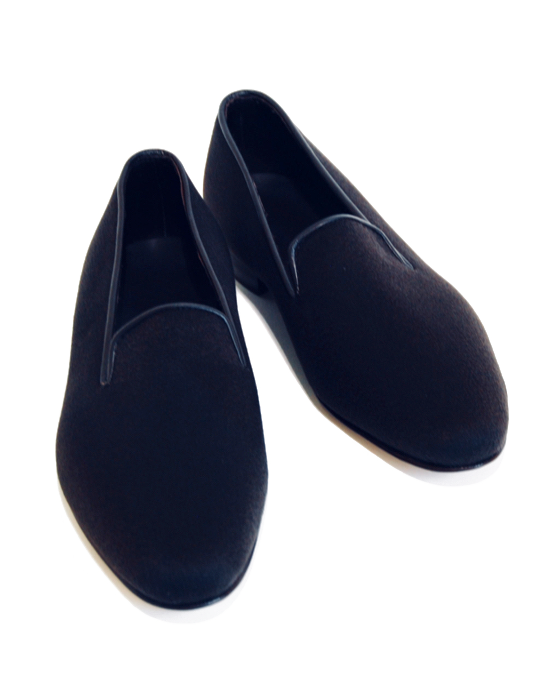Real Cashmere Loafer - Navy