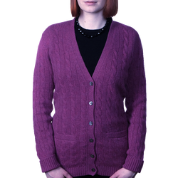BERK Cable Vee Cardigan 2 Ply