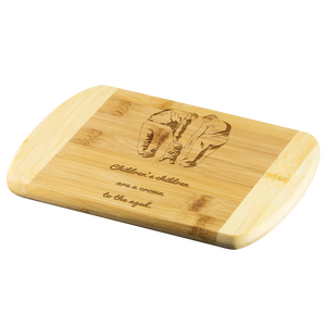 Grandparents Round Edge Cutting Board - Peculiar Display