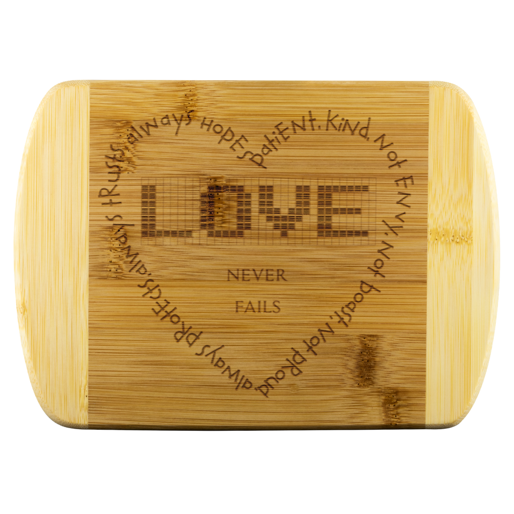 Love Round Edge Wood Cutting Board - Peculiar Display