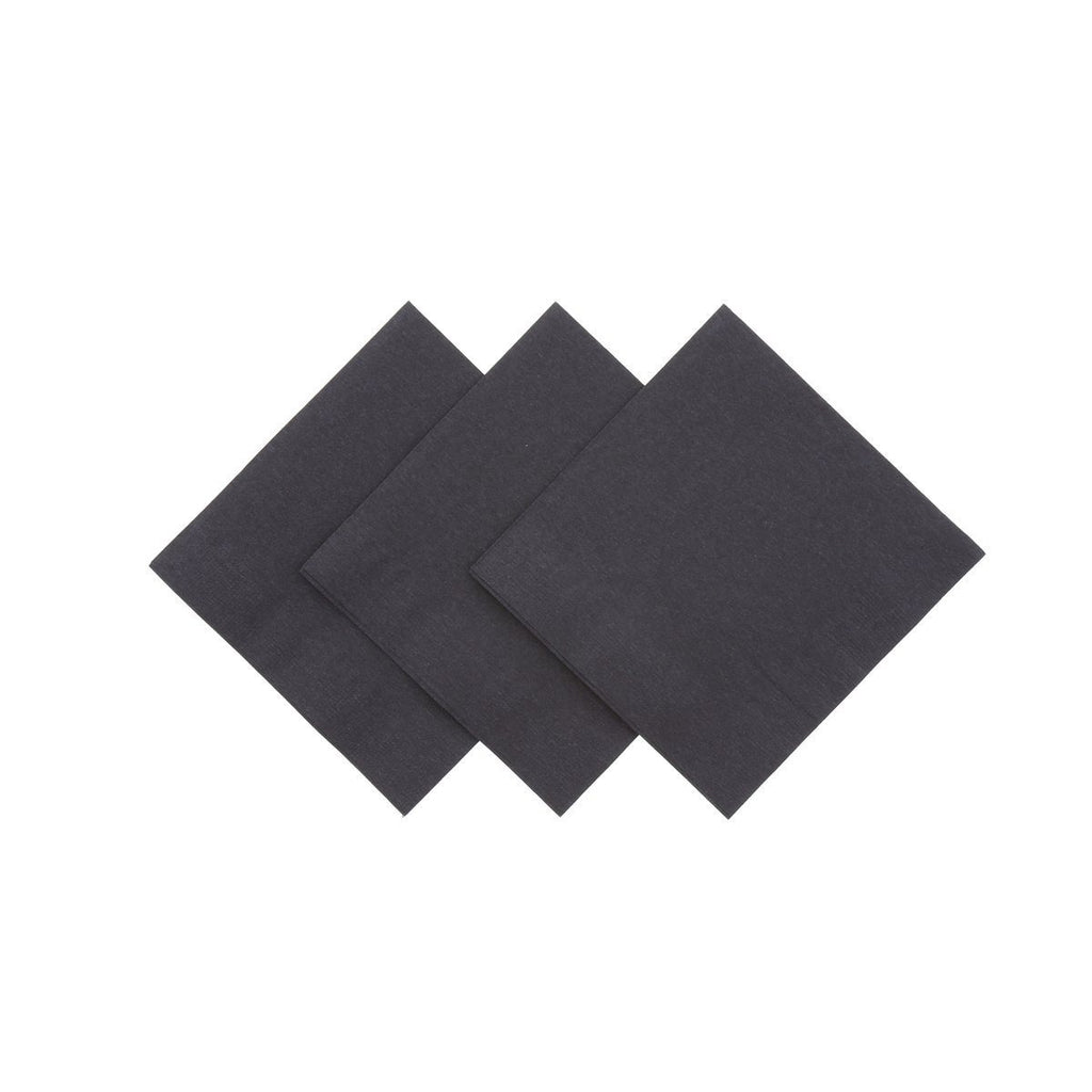 2 Ply Beverage Napkin - Black