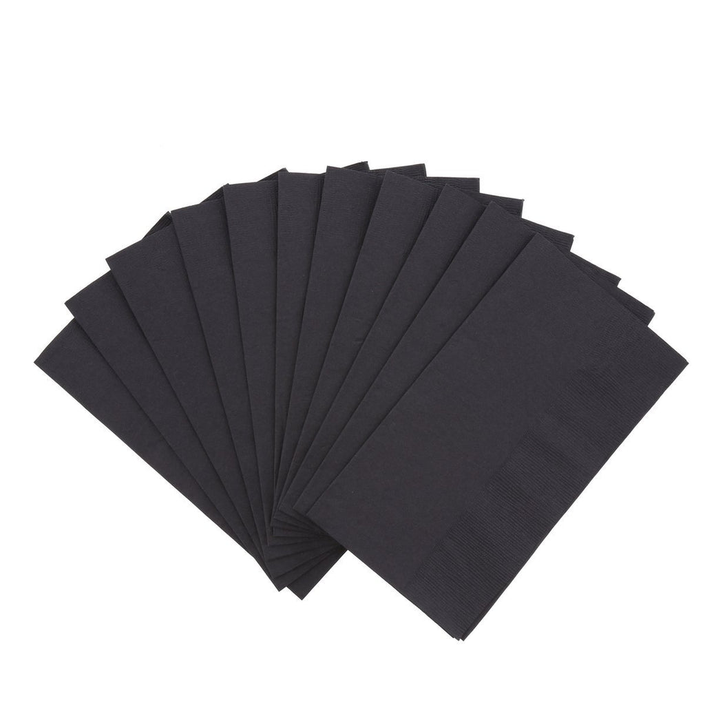 2 Ply Dinner Napkin - Black - Food Loops