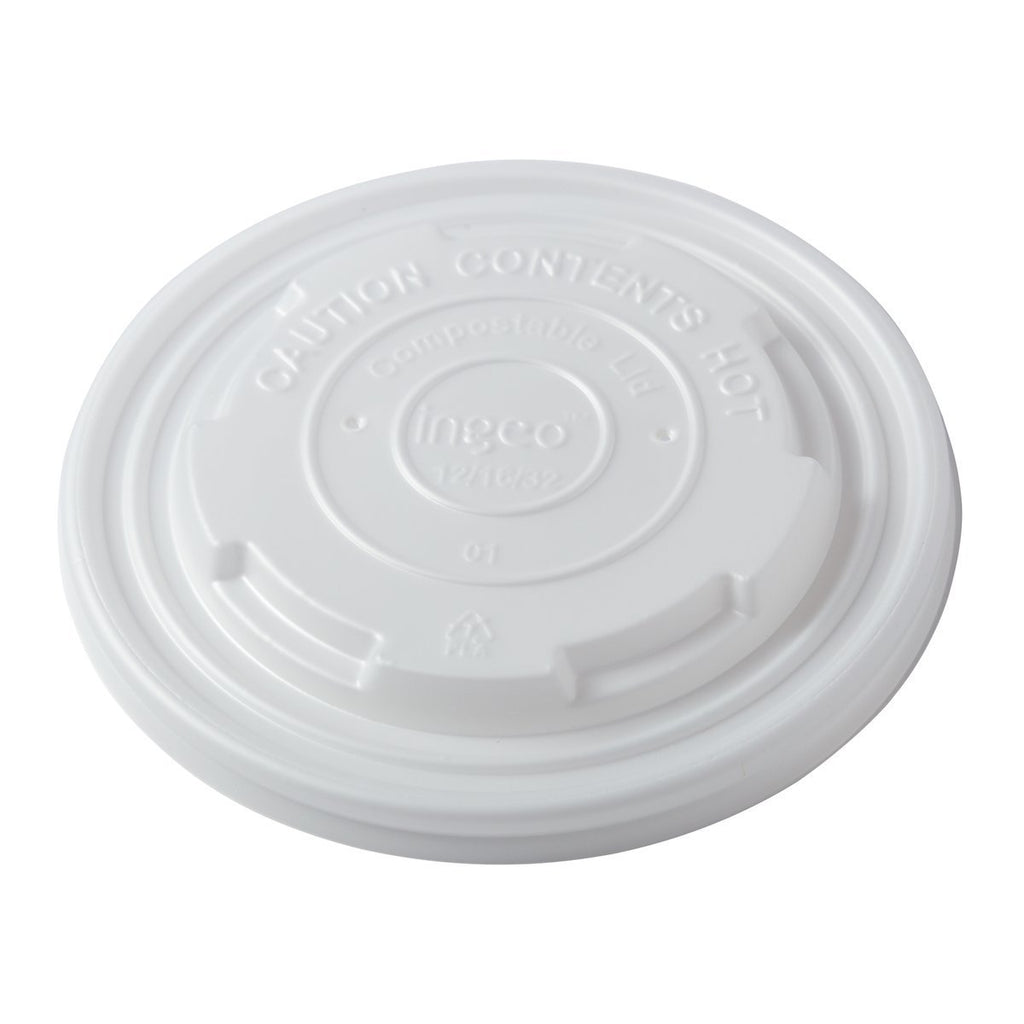 12-32oz CPLA Food Container Lid Soup Cups - PLA Primeware