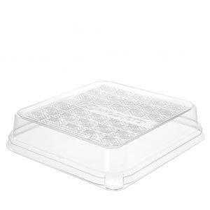 1.5in Dome Lid Fits 7in 3-Compartment Base Sugarcane WorldView