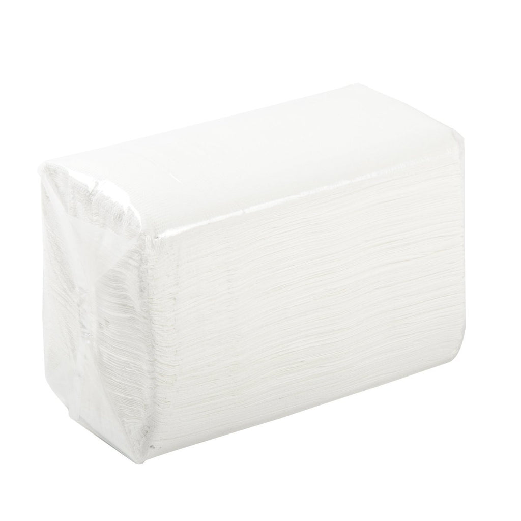 2 Ply Dinner Napkin - White - Large Box (3000) - Food Loops