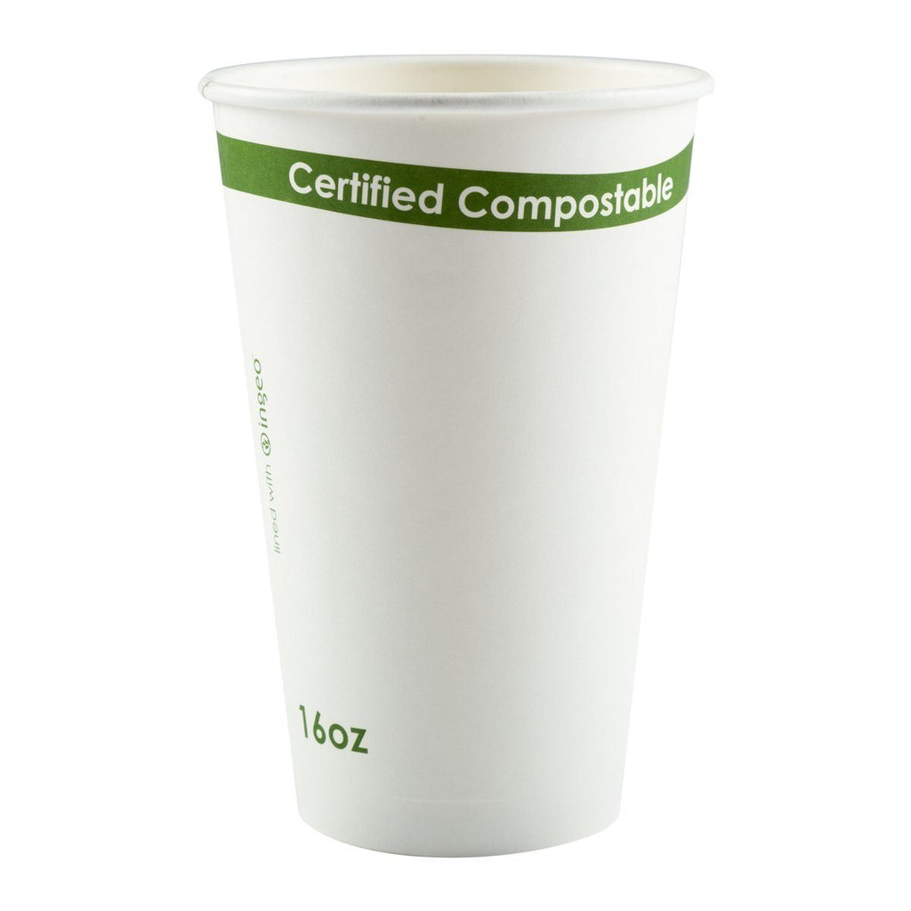 16 oz Hot Cup White