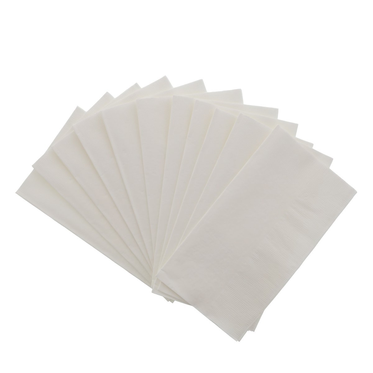 2 Ply Dinner Napkin - White - Food Loops