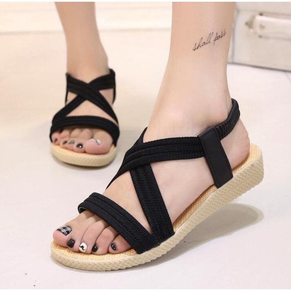 Summer Casual  Beach Style  Casual Sandals in Black 1a313c