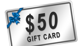 Win 1 of 10 $50 Gift Cards