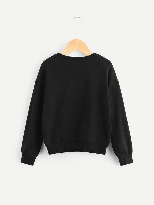 Lets Make It Modern | Girls Letter Print Pullover