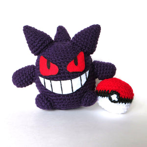 "Crochet Gengar Pokemon 6"" Tall (1:10 Scale)"