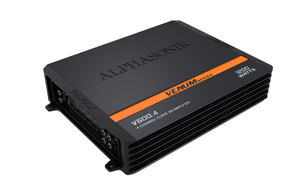 Alphasonik V600.4 4-Channel 1200 Watts VENUM Amplifier