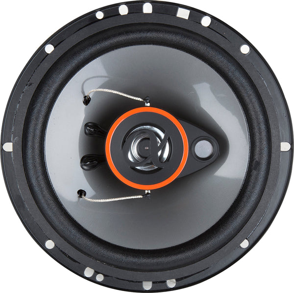 Alphasonik AS26 2 Pairs 6.5 inch 350 Watts Max 3-Way Car Audio Full Range Coaxial Speakers with Universal Mounting Holes for Easy Installation and Grills Included