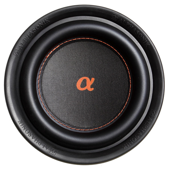 Alphasonik NSW410 Neuron 400 Series 1200 Max / 400 Watts RMS Dual 4 Ohm Car Subwoofer w/ High Grade Magnet Non Pressed Paper Carbon Stitched Cone Cooling Rings System Speaker Bass Sub Woofer