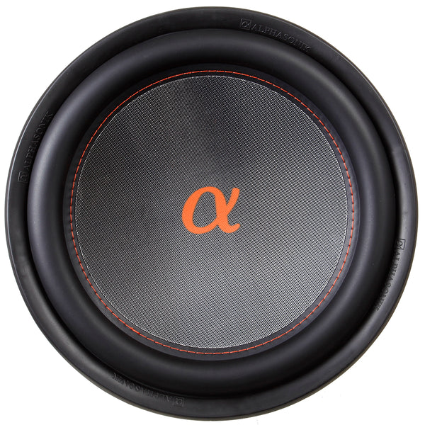 "Alphasonik NSW412 Neuron 400 Series 12"" 1500 Watts Max / 500 Watts RMS Dual 4 Ohm Car Subwoofer w/ High Grade Magnet Non Pressed Paper Carbon Stitched Cone Cooling Rings System Speaker Bass Sub Woofer"