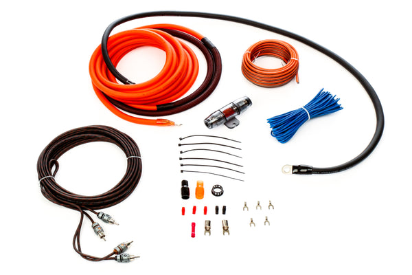 Alphasonik AAK4G Premium 4-Gauge Complete Car Amplifier Installation Kit