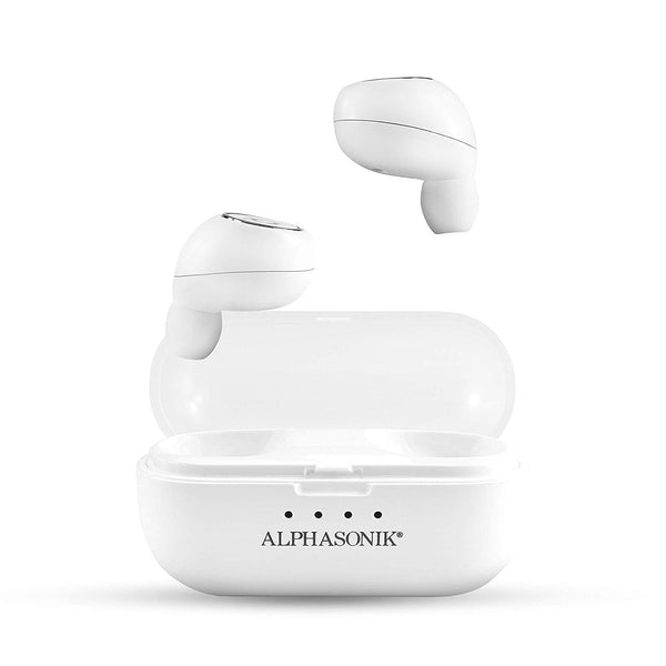A3TWS True Wireless Earbuds Bluetooth Noise Isolating Water-resistant Headphones Touch Control Sports in-Ear Earbud TWS Stereo Sound Mini Headset Built-in Mic Extra Bass Portable Charging Case