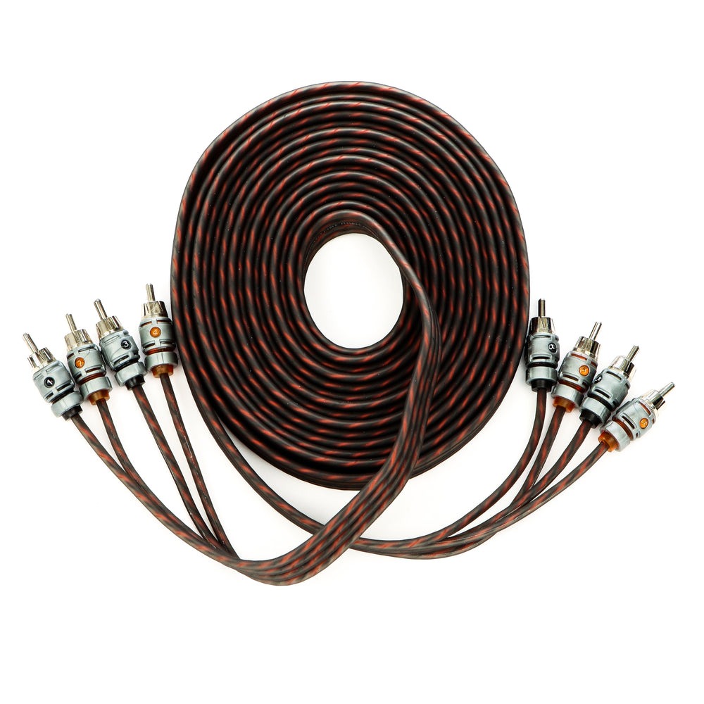Alphasonik 17 Feet Premium 4 Channel Hyper-Flex RCA