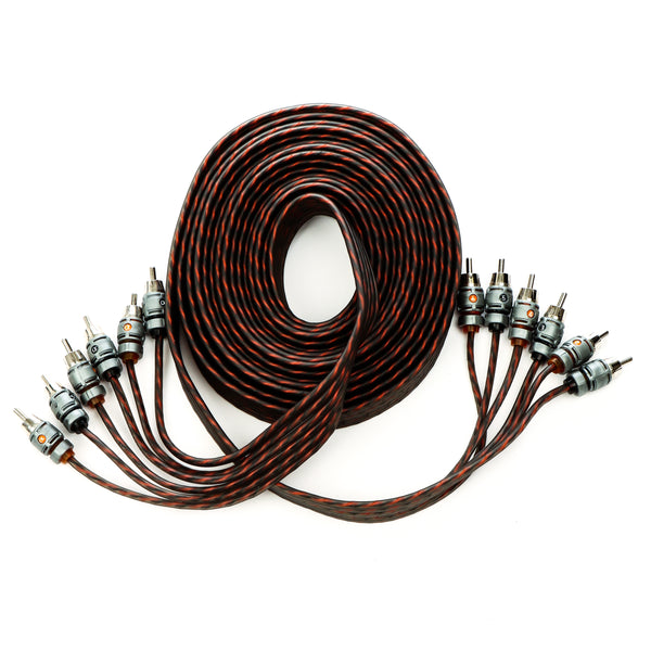 Alphasonik 17 Feet Premium 6 Channel Hyper-Flex RCA